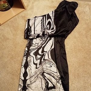 Size 2 Jessica Simpson one shoulder dress